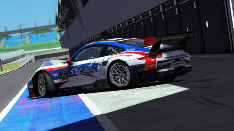 Rui Santos controls top spot most laps for win in Mountain Peak Road Course Flat6 // Race2Play