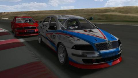 Last-lap pass caps race for Nuno Gaiteira in Rockingham Skoda @ Race2Play.com