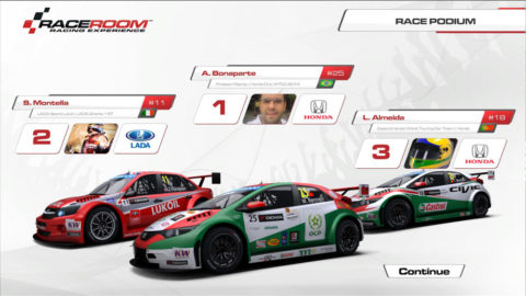 Almeida races Honda Civic WTCC in Portimao WTC // Events // Race2Play Multiplayer Online Racing