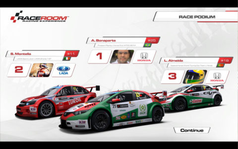 Almeida races Honda Civic WTCC in Portimao WTC // Events // Race2Play Multiplayer Online Racing