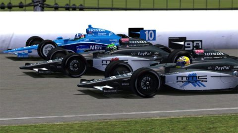 Mario Rocha raced past the checkered flag a razor-thin 0.048 seconds ahead of Ryan McConkey to take fourth place in the Indianapolis Grand Prix @ Race2Play.com