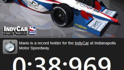 Mario Rocha makes notable career run behind wheel of IndyCar in Indianapolis 500 – Track Record: 0.38.969 @ Race2Play.com