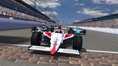 Mario Rocha WON by the narrow margin of 0.057 in the Indianapolis Motor Speedway IndyCar @ Race2Play.com