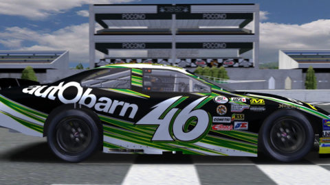 Andy Graydon made a final pass on the last lap for a first-place finish to clinch the series championship in the Pocono @ Race2Play.com