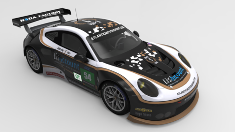 Atlantic Motorsport Porsche 7 Years GTLM finished P8 in the 8 hours of Silverstone – Virtual Endurance Championship – Season 9 – Race 3