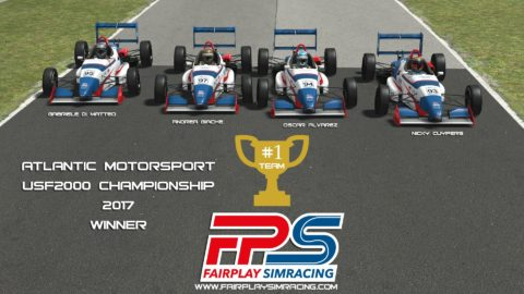 Fairplay Simracing WON the Atlantic Motorsport USF2000 Championship 2017