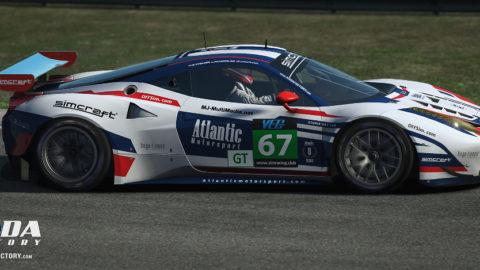 Atlantic Motorsport Ferrari F458 finished P6 in the 1000 miles of Indianapolis