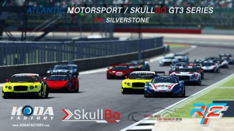 Alen Terzic won the fourth round at Silverstone-Virtual Race Car Engineer GT3 SkullBo Championship