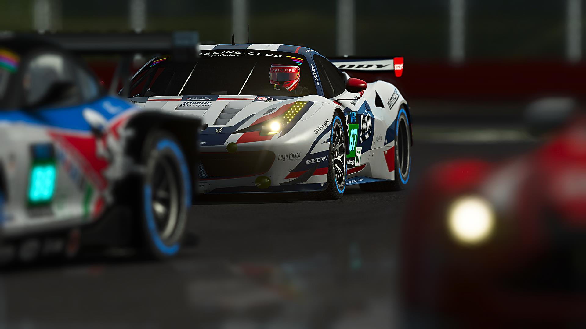 Atlantic Motorsport Ferrari F458 #67 finished P4 in the 8 hours of ...