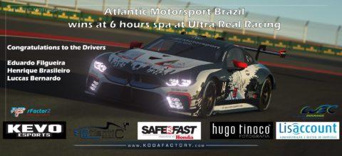 Atlantic Motorsport Brazil wins 6 hours SPA at Ultra Real Racing