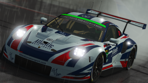 Atlantic Motorsport Porsche 911 RSR GTE for the VLMS Championship