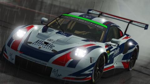 Atlantic Motorsport Porsche 911 RSR GTE for the VLMS Championship
