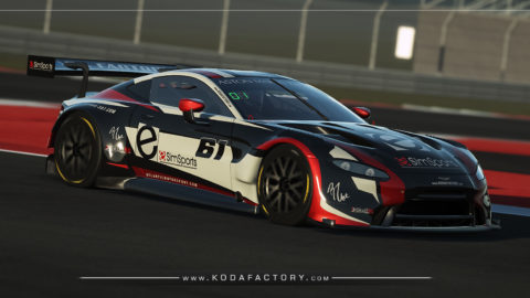 Atlantic Motorsport presents the new eSimSports Racing Aston Martin Vantage GT3