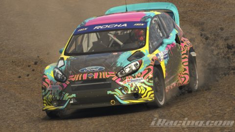 Mario Rocha finish P3 on the iRacing RallyCross Series at Sonoma Raceway