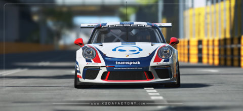 Atlantic Motorsport presents the new Teamspeak Porsche 911 GT3 CUP for rfactor2