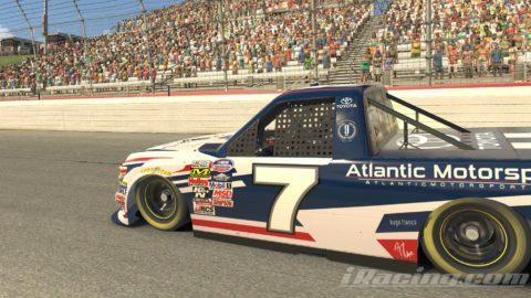 Mario Rocha finish P8 on the NASCAR GANDER Outdoors Truck Series at Atlanta Motor Speedway