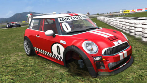 "Making his 10th start in the Mini Cooper Luís Almeida drove to a sixth-place finish in Jacarepagua Historic Mini after suspension ""problems"""
