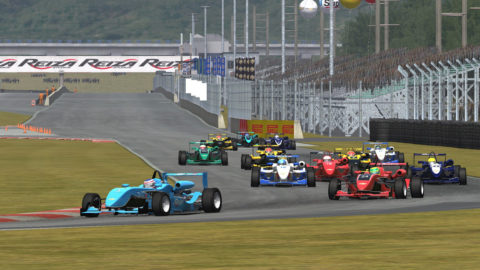 Antonio Castagna led all drivers most for 26 of 39 laps on a run for first place  in Vanport International NC Formula 3