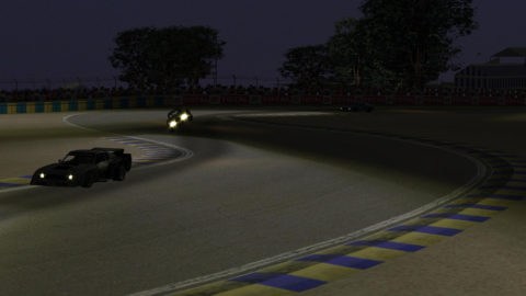 Marcelo Aiello drove to a seventh-place finish in his 100th career run on the rFactor sim in Le Mans Bugatti Div II