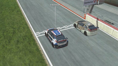 Harris Muhammad held the lead for five laps in a run to second place in Round 3 of the DG BTCC CUP series // Race2Play