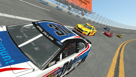 April Dillon picked off 12 positions to finish in fourth place in the Daytona Speedway // Race2Play
