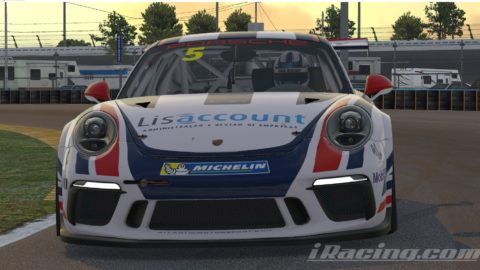 Jose Jesus finish P2 on the Porsche iRacing CUP Series S1 – Daytona