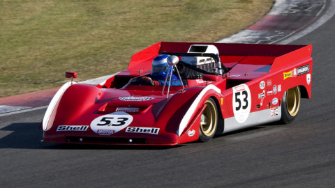 Luís Almeida won third place in the Watkins Glen CanAm in the opening round of the Vintage CanAm 1971 // Race2Play