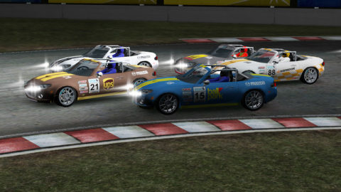 Miguel Abreu controls lead every lap in Nogaro 2009 MX5 // Race2Play Multiplayer